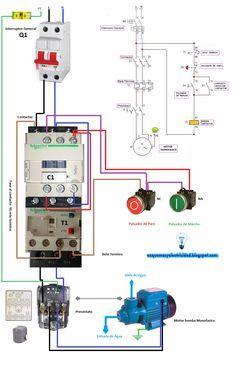 single phase motor contactor wiring electrical mechanics. Black Bedroom Furniture Sets. Home Design Ideas
