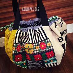 ハンドメイド「cheerful!!」 (@cheerful66handmade) | Instagram photos and videos Fabric Gifts, Fabric Bags, Craft Bags, Leather Fabric, Fashion Bags, Leather Handbags, Cheer, Pouch, Photo And Video