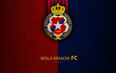 Download wallpapers Wisla Krakow FC, 4k, football, emblem, Wisla logo, Polish football club, blue red leather texture, Ekstraklasa, 1906, Krakow, Poland, Polish Football Championships Leather Texture, Red Leather, Logos, Football Wallpaper, Sports Wallpapers, Krakow, Fifa, Championship Football, Club