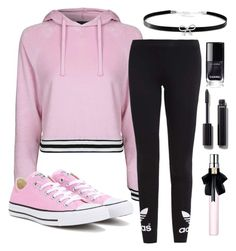 """Untitled #1184"" by mfr-mtz ❤ liked on Polyvore featuring Topshop, adidas Originals, Converse, Giani Bernini, Chanel and Yves Saint Laurent"