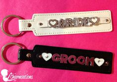 Personalize your own! Visit our website at www.charmsations.com/#cheatumcharm    #bride #groom #wedding #gift