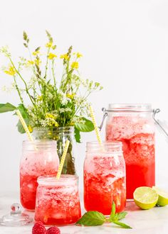Hallonbål på sorbet, hur gott låter inte det? Denna somriga alkoholfria drink räcker till åtta personer och passar perfekt till sommarens heta dagar. #drink #hallon #bål #punch #alkoholfri #mocktail Juice Drinks, Smoothie Drinks, Non Alcoholic Drinks, Smoothies, Beverages, Cocktails, Wine Recipes, Great Recipes, Fodmap Recipes