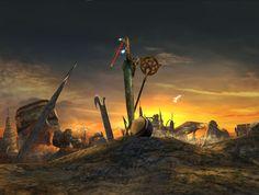 Aftermath, Zanarkand - Final Fantasy X Arte Final Fantasy, Final Fantasy Artwork, Final Fantasy Characters, Fantasy Love, Fantasy Series, Fantasy World, Final Fantasy Quotes, Video Game Art, Video Games