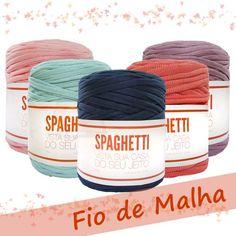 Fio pingouin Spaghetti - á Crochet Tools, Knit Crochet, Crochet Bags, Spaghetti, Tapestry Crochet, T Shirt Yarn, Lana, Diy And Crafts, Yarns