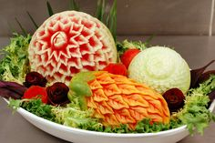 carved fruit | Flickr - Photo Sharing!