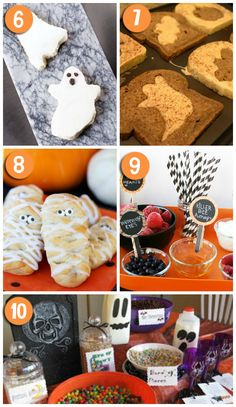 Cute Halloween Breakfast Ideas- the cereal buffet is my fave!