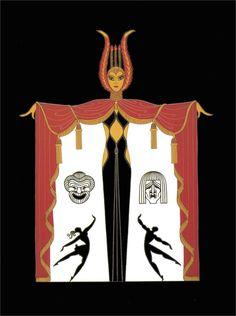 Broadway's in Fashion Art Deco by Erte