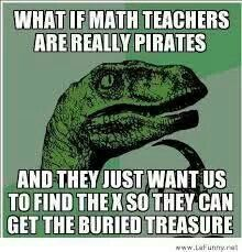Funny and it made me think of a great idea for next year teaching one-step equations!