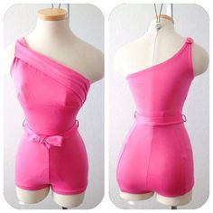 BUBBLE Gum Pink GORGEOUS Vintage 1950s 60s Cole of by hipsmcgee, could this get any cuter?!!!  Women's vintage summer fashion swimwear