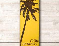 Beach Wall Art; Beach Wood Sign; Beach Home Decor; Every Summer Has a Story Wood Sign