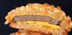 """Lanche extremo: chef inventa hambúrguer com """"pão"""" feito com batatas fritas"""