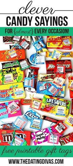 Clever Candy Sayings for {almost} Every Occasion!  I know many say no intrinsic motivation, but these sure would be cute to hand out as prizes for extra effort on occasion. They would also be neat for end of year awards!