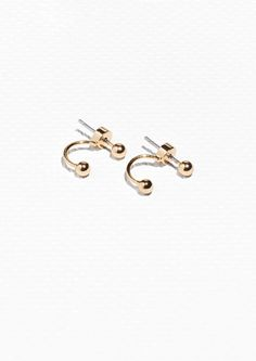 & Other Stories image 1 of Orb Front Back Earrings in Gold