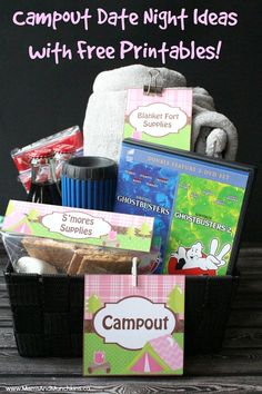 Campout Date Night Ideas - great for a family fun night or a date night idea with your significant other! Comes with free date night printables!