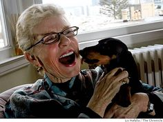Patty Duke and her doxy. Yes, that Patty Duke. I don't know which is more remarkable, the Doxie or Patty Duke. We are all getting older, I guess. Dachshund Art, Daschund, Dachshund Humor, Patty Duke, Weenie Dogs, Little Dogs, Dog Life, Famous People, Famous Dogs