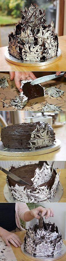 Цитата: Украшение торта «Шоколадный взрыв»