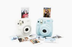 Instax Mini Instant Cameras - Make sharp, saturated, credit card-sized photos that develop instantly! So cute!