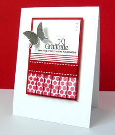 Here's my attempt at some paper pleating.... Zooming in.... Supplies: Stamps - Papertrey Ink 'Polka Dot Basis II', 'Retro Backgr...