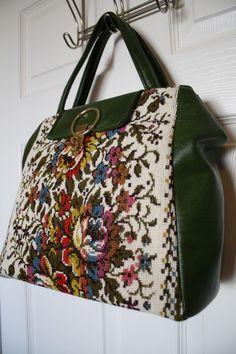 Vintage Needlepointed Handbag $30