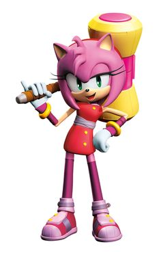 Amy Rose is ready to swing her hammer against Eggman's mechs in Sonic Boom.