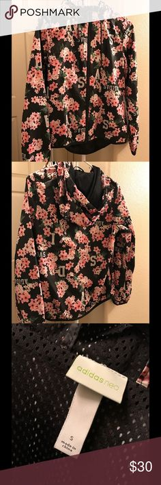 Adidas Neo Floral Windbreaker Floral Windbreaker. Took off the tag before but I never wore it! Comfortable and light! Adidas Jackets & Coats