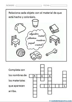 Spanish Classroom Activities, Spanish Teaching Resources, English Class, Classroom Decor, Worksheets, Homeschool, Science, How To Plan, Education