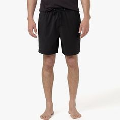 $245, Black Shorts: James Perse Yosemite Classic Swim Trunk. Sold by James Perse. Click for more info: https://lookastic.com/men/shop_items/234521/redirect