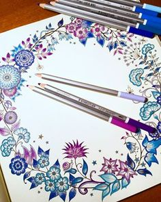 Our Karat Aquarell Watercolour Pencils And Johanna Basfords Colouring Book Perfect Combination For A Good