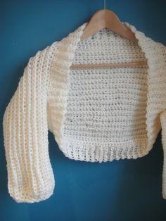 Cream Crochet Shrug Pattern  --    http://www.lookatwhatimade.net/crafts/patterns/cream-crochet-shrug-pattern/