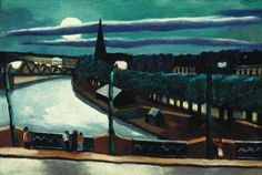 Max Beckmann (German, Expressionism, 1884-1950): Moon Landscape (Frankfurt am Main), 1925. Oil on canvas, 40 × 59.7 cm.
