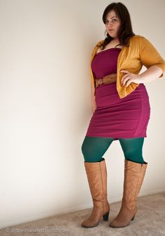 Color blocking #plus #size #fashion   http://alittlelessnaked.tumblr.com/post/17557307230/color-block-champion-and-dork-extraordinaire-so