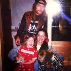 Axl Rose with Erin Everly, 1990.