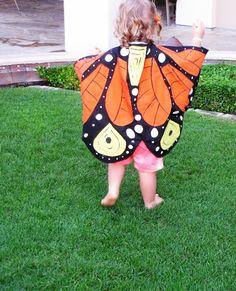 Feeling Kinda Thrifty: DIY Fabric Butterfly Cape
