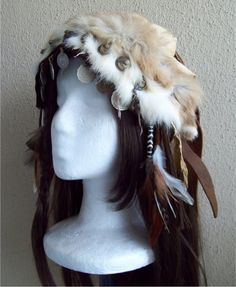Woodland Headdress by Xavietta on deviantART. This person makes some seriously fantastic stuff (and does commissions too!)