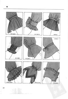 So many great ways to make sleeves! That makes me too … - DIY Clothes Ideas Sleeves Designs For Dresses, Sleeve Designs, Fashion Design Drawings, Fashion Sketches, Fashion Sewing, Diy Fashion, Tie Dye Fashion, Korean Fashion, Winter Fashion