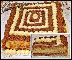 MILLEFOGLIE AI DUE CIOCCOLATI Cake Frosting Recipe, Frosting Recipes, Cake Recipes, Dessert Recipes, Italian Desserts, Mini Desserts, Cheesecake, Sweet Bread, No Bake Cake