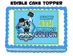 Max Steel Edible Cake Topper  Personalized by thePARTYBOTS on Etsy, $10.00