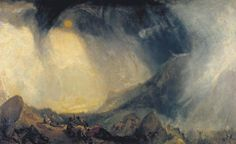 Snow Storm: Hannibal and his Army Crossing the Alps by Joseph Mallord William Turner exhibited 1812 oil on canvas Tate Britain Joseph Mallord William Turner, Pierre Auguste Renoir, Claude Monet, Carthage, Turner Painting, National Gallery, Most Famous Paintings, Famous Art, Tate Britain