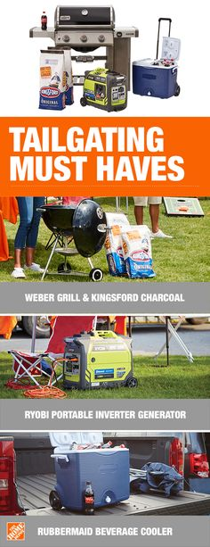 c404b9a37e86b Complete your gameday set up with tailgating must haves from The Home  Depot. Fire up