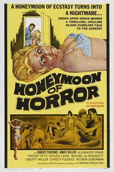 Honeymoon of Horror posters for sale online. Buy Honeymoon of Horror movie posters from Movie Poster Shop. We're your movie poster source for new releases and vintage movie posters. Horror Movie Posters, Cinema Posters, Movie Poster Art, Horror Films, Fiction Movies, Cult Movies, Sci Fi Movies, Watch Movies, Science Fiction