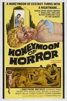 Honeymoon of Horror  movies  movie poster  vintage