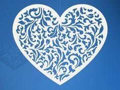 Wisząca dekoracja ślubna w kształcie serca
