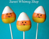 12 Cute Candy Corn Cake Pops for Halloween, Trick-or-Treat, Teacher Class Gift, Birthday, Baby Shower,Candy Land, Candy Crush, Fall, Autumn