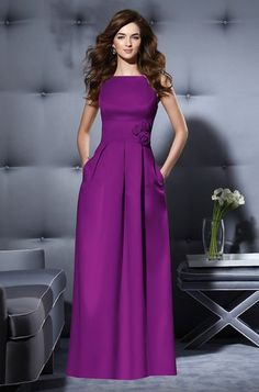 Dessy 2796 Bridesmaid Dress | Weddington Way Persian Plum Duchess Satin