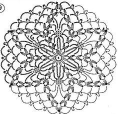 Gallery.ru / Фото #56 - Мотивы - grinalla Crochet Snowflake Pattern, Crochet Motif Patterns, Crochet Mandala, Crochet Chart, Crochet Squares, Crochet Doilies, Crochet Christmas Ornaments, Holiday Crochet, Crochet Ball