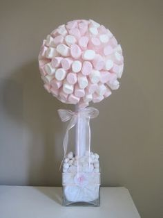 Marshmallow tree thème gourmandises. centre de tables ?