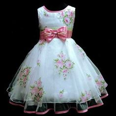 Pink Christmas Wedding Party Bridesmaid Flower Girls Dresses Age Y Wedding Flower Girl Dresses, Little Dresses, Little Girl Dresses, Cute Dresses, Girls Dresses, Flower Girls, Floral Wedding, Kids Frocks, Frocks For Girls