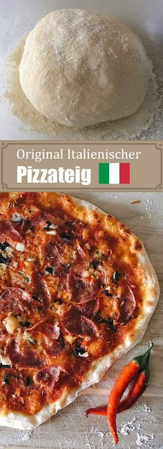 Original Italienischer Pizzateig - My list of simple and healthy recipes Making Pizza Dough, Dough Pizza, How To Make Pizza, Good Pizza, Clean Eating Snacks, Italian Recipes, Food Porn, Food And Drink, Cooking Recipes