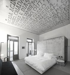 Casa Doconto in Porto Portugal - Carved Ceiling... Why not use paint instead?