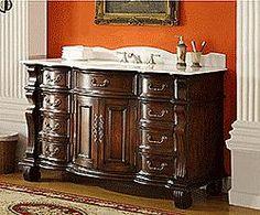 "60"" Diana (DA-695) : Bathroom Vanity #Diana #HomeRemodel #BathroomRemodel #BlondyBathHome #BathroomVanity"